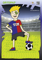 Motivationsposter Fußball-Spieler Tim