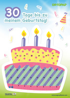 Motivationsposter Geburtstag